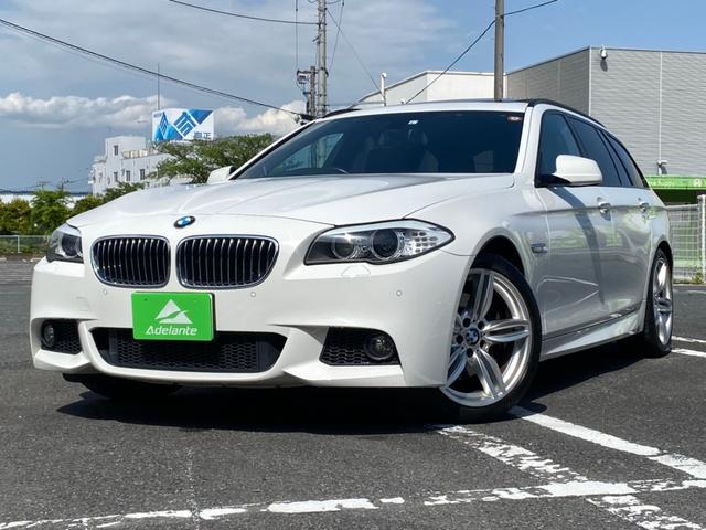BMW 5シリーズ 535iツーリング Mスポーツ HDDナビ・地デジTV・バックカメラ・黒革シート・大型サンルーフ・スマートキー・プッシュスタート・ETC・HIDヘッドライト・19インチアルミ・パワーシート・シートヒーター