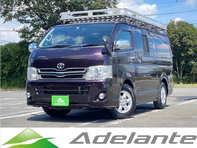 トヨタ ハイエースバン ロングスーパーGLプライムセレ HDDナビ・バックカメラ・Bluetooth・ETC・フルセグ・ルーフキャリア・ラダー・100V電源・ワンオーナー