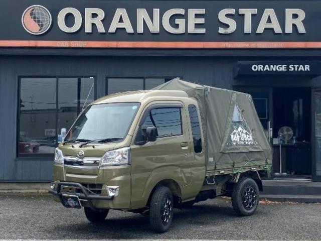 ダイハツ ジャンボ ワンオーナー バグトラック キャンプ 4WD MT リフトアップ 架装 グリルガード LEDライト アルミホイール ナビ