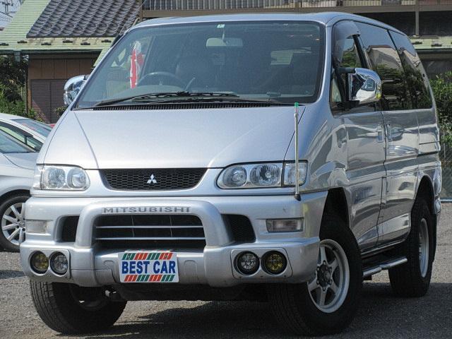 三菱 シャモニーエアロルーフ 4WD サンルーフ HDDナビ
