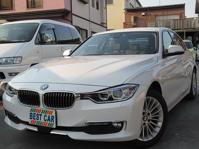BMW 320dラグジュアリー ディーゼル 本革 純正ナビ Bカメラ