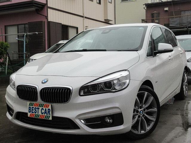 BMW 218dアクティブツアラーラグジュアリー 本革 純正ナビ