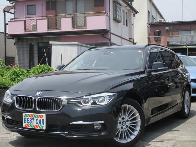 BMW 318iツーリング ラグジュアリー 本革シート 純正ナビ バックカメラ ドライブレコーダー ミラー型ETC パワーシート シートヒーター BTオーディオ ミュージックサーバー LEDライト
