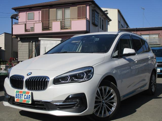 BMW 218dグランツアラー ラグジュアリー 本革シート 純正ナビ バックカメラ ETC シートヒーター 電動リアゲート LEDヘッドライト 後期