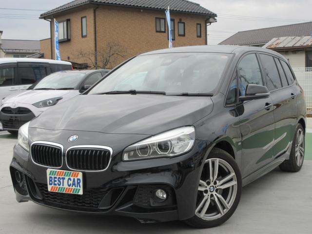 BMW 220iグランツアラー Mスポーツ 本革シート 純正ナビ バックカメラ ETC 純正AW LED パワーシート シートヒーター 新車記録簿