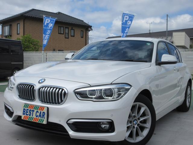 BMW 1シリーズ 118i スタイル 禁煙車 純正ナビ バックモニター ETCミラー CD DVD再生 Bluetooth クルーズコントロール ハーフレザーシート プッシュスタート スマートキーLEDヘッドライトシステム