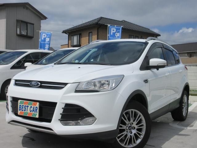 フォード クーガ トレンド 4WD 禁煙車 ワンオーナー フルセグナビTV バックモニター サイドビューモニター Bluetoothオーディオ ETC クルーズコントロール ハーフレザーシート パワーシート