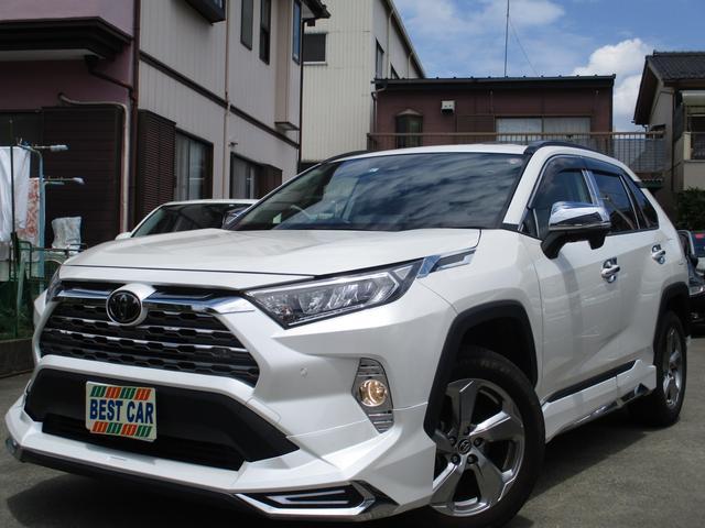 トヨタ G 4WD 禁煙 純正ナビフルセグTV バックガイドモニター Bluetooth パワーリアゲート 純正フルエアロ 本革シート パワーシート セーフティセンス ETC LEDヘッドライトシステム