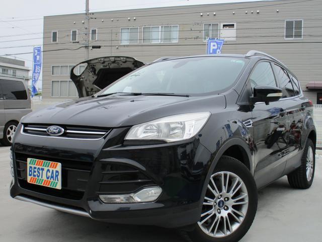 フォード クーガ トレンド 4WD ビルトインナビフルセグTV ブルートゥース ETC パワーシート スマートキー コンビレザー ルーフレール