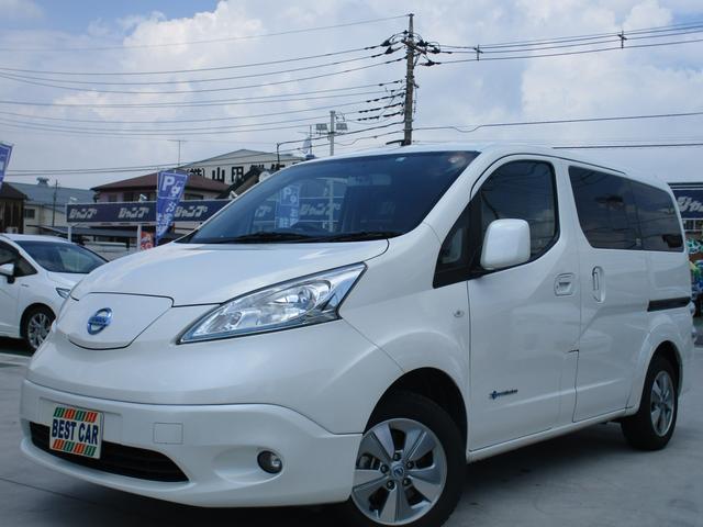 日産 e-NV200ワゴン G 充電ケーブル 純正ナビフルセグTV バックモニター ETC ドライブレコーダー 革調シートカバー シートヒーター ステアリングヒーター インテリジェントキー LEDヘッドライトシステム