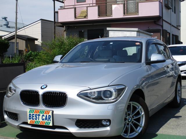 BMW 1シリーズ 120i 禁煙車 ワンオーナー車 純正ナビ CD DVD再生 Bluetoothオーディオ バックモニター ミラー型ETC パワーシート スマートキー プッシュスタート HIDヘッドライトシステム