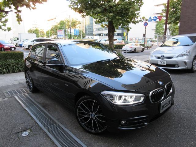 BMW 118d スポーツ 正規ディーラー下取車 1オーナー 禁煙車 正規ディーラー記録簿2枚有り サービスPKG実施車 HDDナビ バックカメラ 前後センサー ドラレコ コンフォートアクセス ACC シートヒーター 19AW