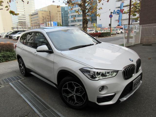 BMW X1 xDrive 20i xライン 正規ディーラー下取車 新車保証継承 1オーナー 禁煙車 正規ディーラー記録簿完備 HDDナビ バックカメラ 前後センサー コンフォートアクセス スペアキー 茶本革シートヒーター ドラレコ 電動ゲート