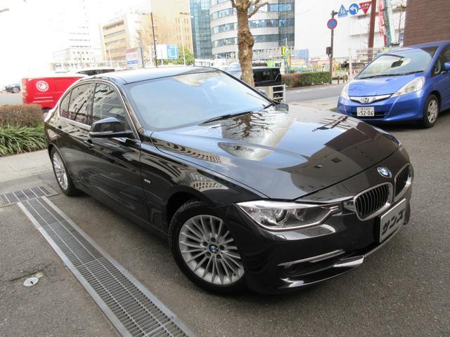 BMW 320iラグジュアリー 正規ディーラー下取車 禁煙車 ボディーコーテング施工歴有り 記録簿5枚完備 茶革ヒーター HDDナビ Bカメラ Bセンサー 3面フィルム貼 前後ドラレコ ETC Sキー 2020年製ポテンザRFタイヤ