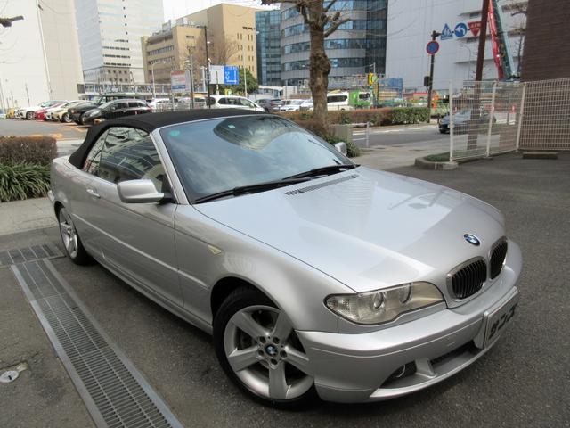 BMW 3シリーズ 330Ciカブリオーレ 2006年最終後期型 正規ディーラー下取車 禁煙車 全正規ディーラー記録簿15枚完備 ガレージ保管車 左ハンドル 純正ナビ 黒革シートヒーター キセノン クルコン スペアキー ETC CD 17AW