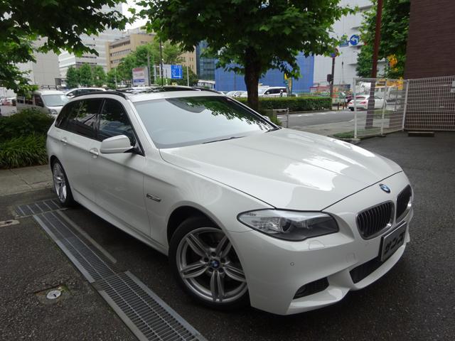 BMW 5シリーズ 535iツーリング Mスポーツパッケージ 禁煙車 メンテナンス記録簿5枚完備 HDDナビ フルセグTV バックカメラ 前後センサー 黒革シートヒーター サンルーフ コンフォートアクセス スペアキー ETC クルコン パドルシフト 純正19AW