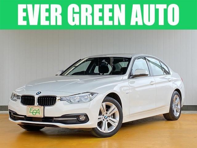 BMW 320i スポーツ 修復歴なし 禁煙車 ワンオーナー 自動衝突被害軽減ブレーキ 純正HDDナビ バックモニター アクティブクルーズ スマートキー パワーシート LEDヘッドライト・フォグ 純正17インチAW i-stop