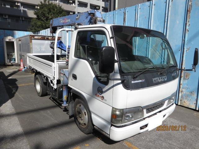 いすゞ エルフトラック 2.3t3段フックインラジコン先端カゴ付 エアコン 記録簿