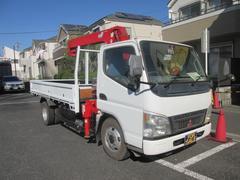 キャンターロング高床SA 標準ボディー ダダノ3段クレーン フックイン オートマ ABS フル装備 軽油