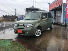 キューブ15XFOUR Vセレ 4WD ガラスルーフ 純正ナビTV