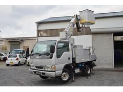 エルフトラック高所作業車 アイチ製 排ガス適合 バックカメラ ナビ