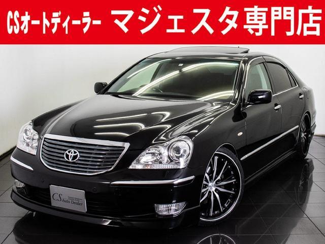 トヨタ 4.3A サンルーフ 黒革 新品20インチAW フルエアロ