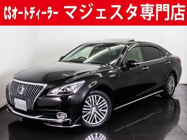 トヨタ 3.5HV F サンルーフ 黒革 モデリスタ 後席VIP