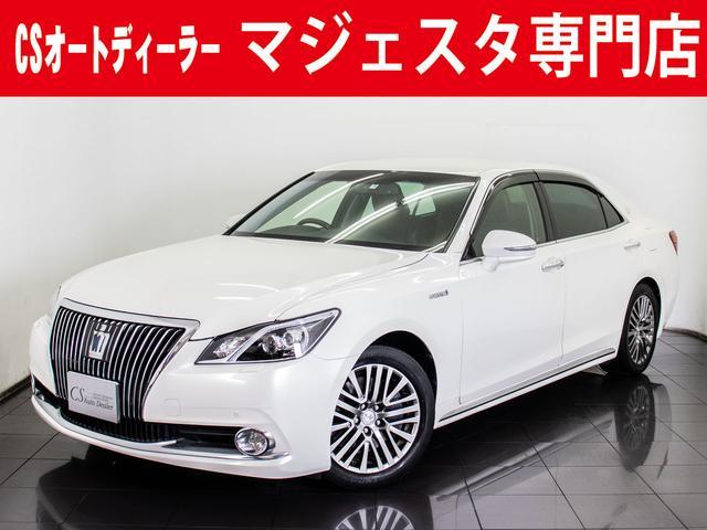トヨタ 3.5HV F 黒革 1オーナ プリクラ 後席VIP HDD