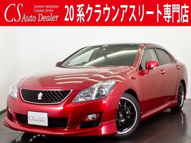 トヨタ 2.5 新品黒革シート 社外AW 車高調 フルエアロ HDD