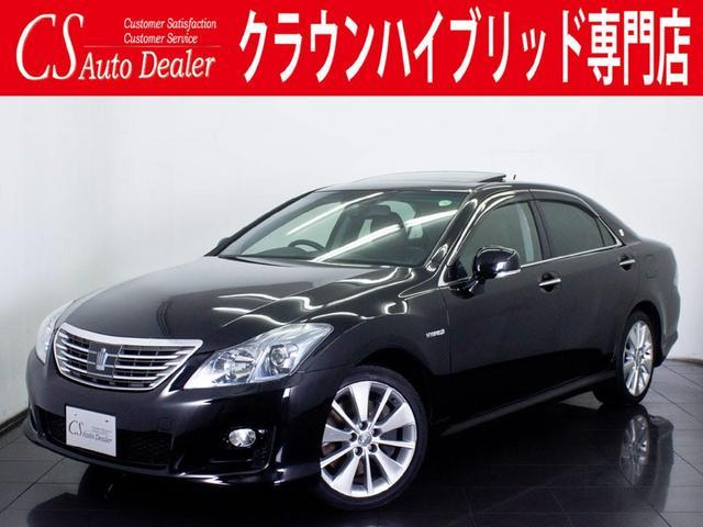 トヨタ 3.5 HV サンルーフ 黒革 エアシート HDD