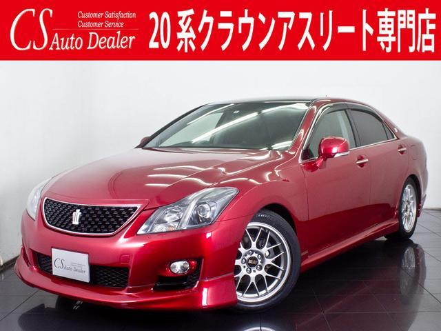 トヨタ 2.5 新品黒革 社外18AW 車高調 フルエアロ HDD