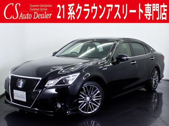 トヨタ 2.5HV G 黒本革 エアシート TRDエアロ HDD