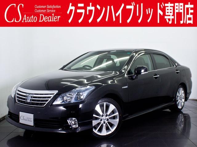 トヨタ 3.5HV G 後期型 黒革冷暖房シート フルエアロ HDD