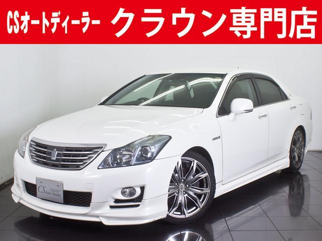 トヨタ 3.5HV 黒本革 19AW フルエアロ ローダウン 車高調