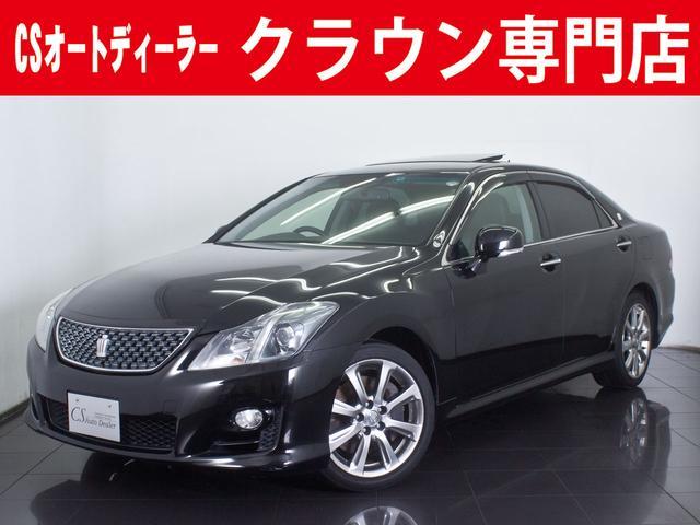 トヨタ 3.5 アスリート サンルーフ HDDマルチ 新品黒革