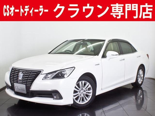 トヨタ 2.5HV ロイヤルサルーンG 新品本革シート フルセグ