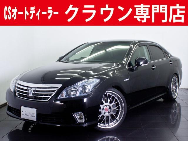 トヨタ 3.5HV G 後期型 黒本革 20AW ローダウン HDD