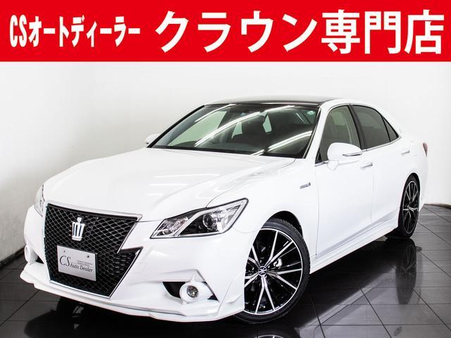 トヨタ アスリートS 黒革 新品20AW フルエアロ SDナビ
