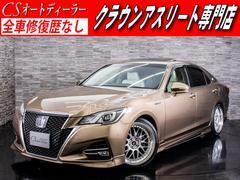 クラウンハイブリッドアスリートS ジャパンカラーSC SR 専用白革 フルエアロ