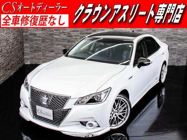 トヨタ アスリートG フルエアロ 新20AW 黒革エアシート HDD