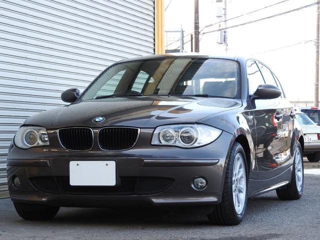 BMW 116i ヒーター付ベージュ本革 純正HID ナビBカメラ
