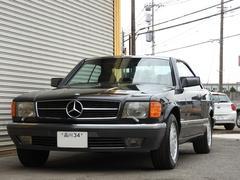 M・ベンツ560SEC 左ハンドル 黒革 1オーナー ガレージ保管