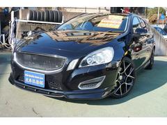 ボルボ V60ドライブe黒革シートナビTVERSTフルエアロマフラーHID