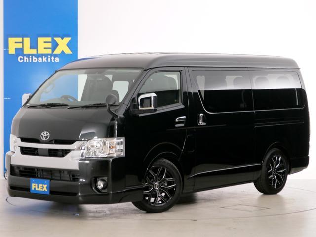 トヨタ GL 10人乗り3ナンバー登録 ガソリン2WD FLEXオリジナル内装アレンジVer1 ローダウン 18インチAW ナビ ETC Bカメラ 後席モニター ベッド テーブル 床張り