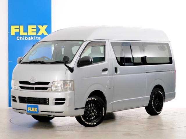 トヨタ ハイエースバン ロングDX GLパッケージ 6人乗り 1ナンバー登録 2.0ガソリン 2WD ライトカスタムPKG 16インチアルミホイール メモリーナビ ETC 5速MT DX GLパッケージ ハイルーフ