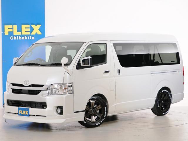 トヨタ GL 10人乗り3ナンバー登録 ガソリン2WD FLEXオリジナル内装アレンジVer5 ローダウン 17インチAW ナビ ETC 後席モニター 3人掛けセカンドシート 2人掛けサードシート フルフラット