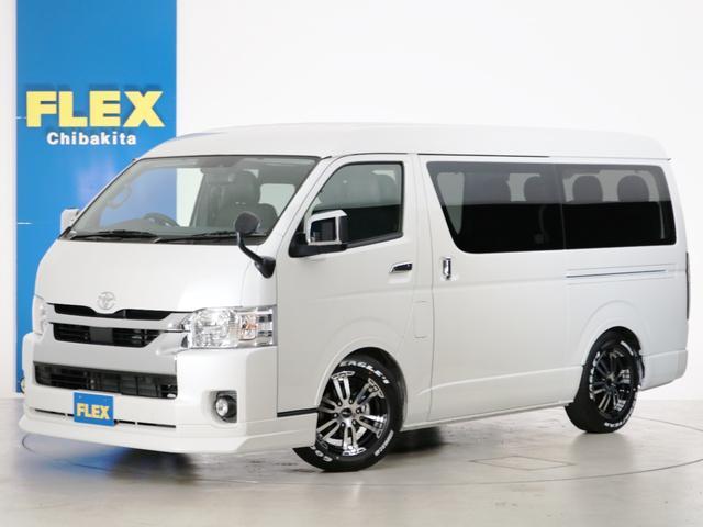 トヨタ GL 10人乗り3ナンバー登録 ガソリン2WD FLEXオリジナル内装アレンジVer1 ローダウン 17インチAW ナビ ETC 後席モニター クリアランスソナー ベッド テーブル 床張り