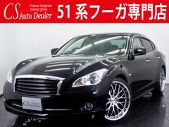 フーガ370GT 新品黒革 ワンオーナー 新品カスタム DVD再生