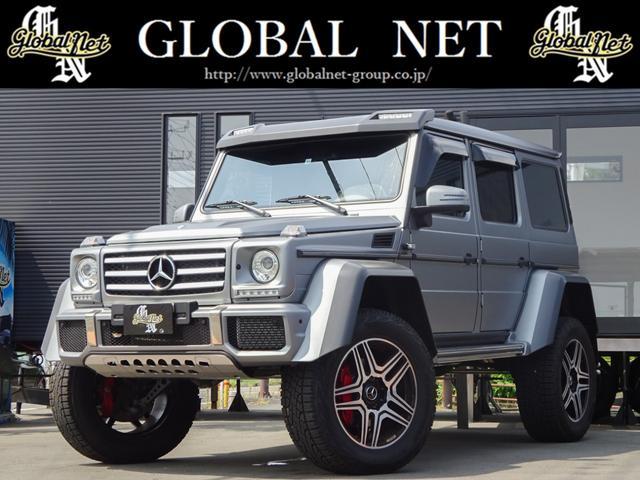 メルセデス・ベンツ Gクラス G550 4×4スクエアード ディーラー車・4WD・ターボ・サンルーフ・期間限定受注生産モデル・特仕・ドライカーボン製オーバーフェンダー・専用22AW・デジーノハーフレザー・強化仕様ツインサスペンション・ナビTV・サウンドシステム