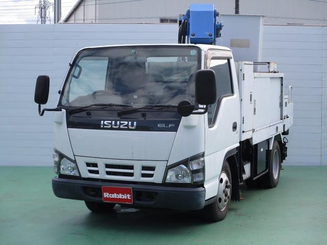 いすゞ エルフトラック 高所作業車 FRPバケット エスマック7.8m